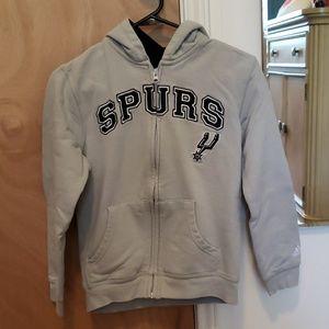 Spurs Full Zip Hoodie by Adidas